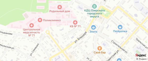Улица Царевского на карте Озерска с номерами домов