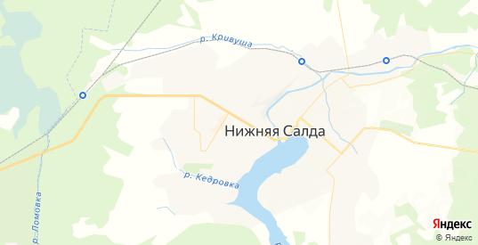 Карта Нижней Салды с улицами и домами подробная. Показать со спутника номера домов онлайн