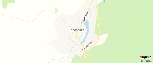 Карта деревни Колотовки в Челябинской области с улицами и номерами домов