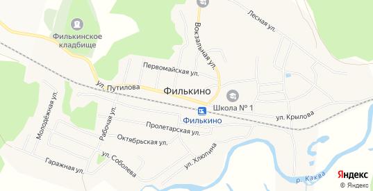 Карта села Филькино в Серове с улицами, домами и почтовыми отделениями со спутника онлайн