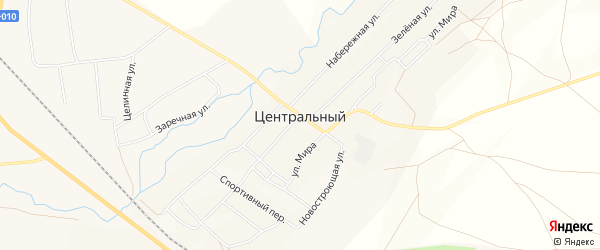 Карта Центрального поселка в Челябинской области с улицами и номерами домов