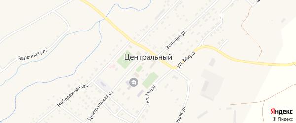 Железнодорожный переулок на карте Центрального поселка с номерами домов