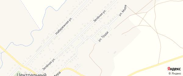 Улица Мира на карте Центрального поселка с номерами домов