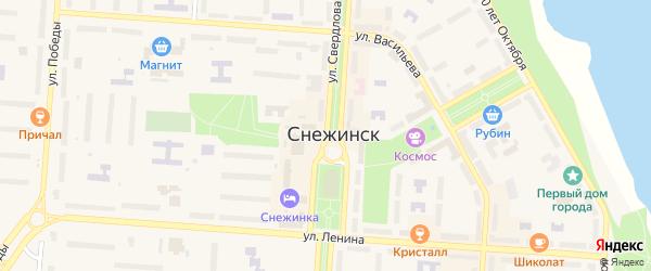 Улица Свердлова на карте Снежинска с номерами домов