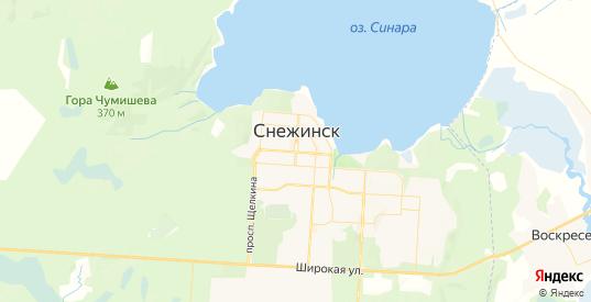 Карта Снежинска с улицами и домами подробная. Показать со спутника номера домов онлайн