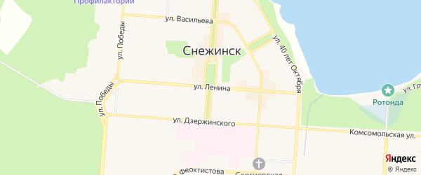 Территория ГСК ПК ГРОТ на карте Снежинска с номерами домов
