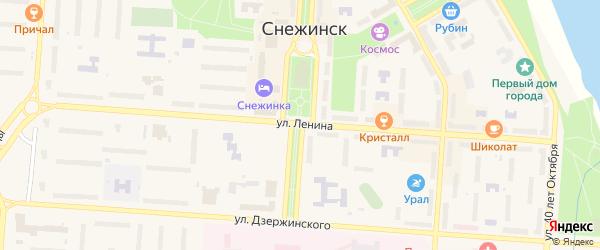 Территория Площадка 4 на карте Снежинска с номерами домов