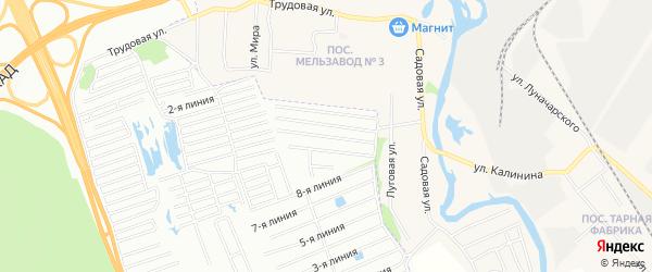 Садовое товарищество Гея на карте Екатеринбурга с номерами домов