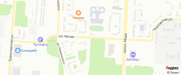 В.З.Нечая улица на карте Снежинска с номерами домов