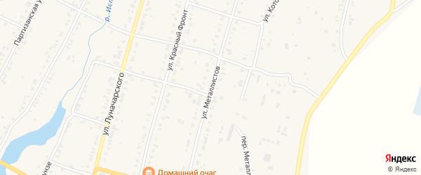 Улица Металлистов на карте Касли с номерами домов