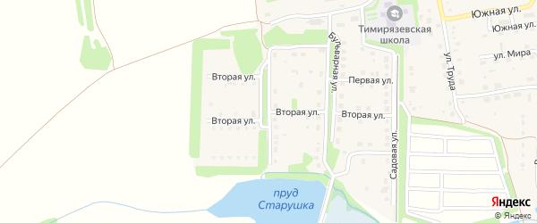 Западная улица на карте Тимирязевского поселка Челябинской области с номерами домов