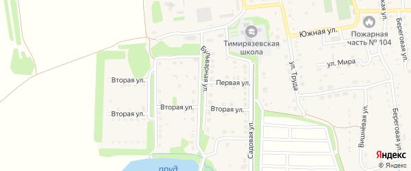Бульварная улица на карте Тимирязевского поселка Челябинской области с номерами домов