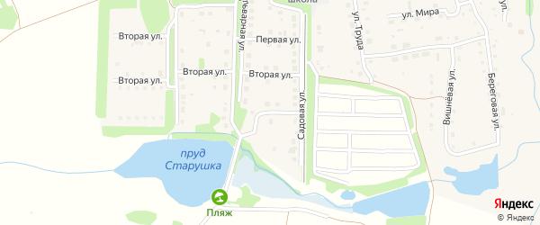 Набережная улица на карте Тимирязевского поселка Челябинской области с номерами домов