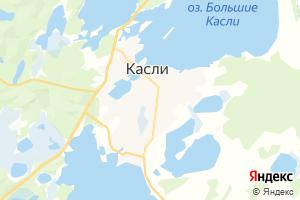 Карта г. Касли Челябинская область
