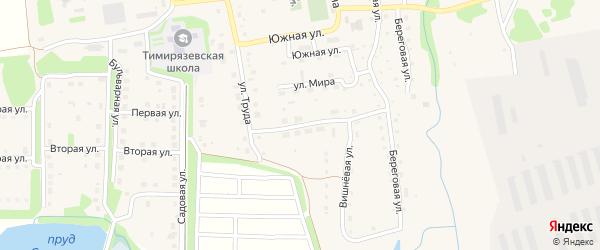 Вишневая улица на карте Тимирязевского поселка Челябинской области с номерами домов