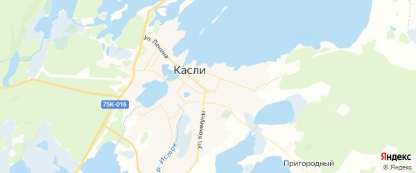 Карта Касли с районами, улицами и номерами домов: Касли на карте России