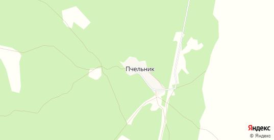 Карта хутора Пчельник в Пласте с улицами, домами и почтовыми отделениями со спутника онлайн