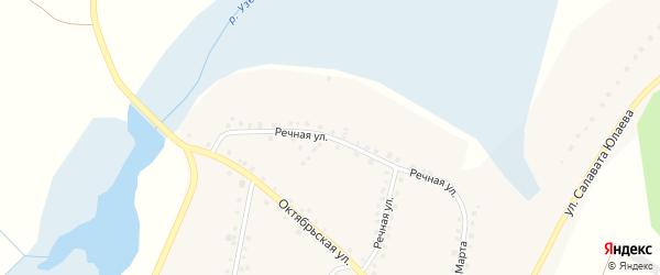 Речная улица на карте деревни Кузяшева с номерами домов