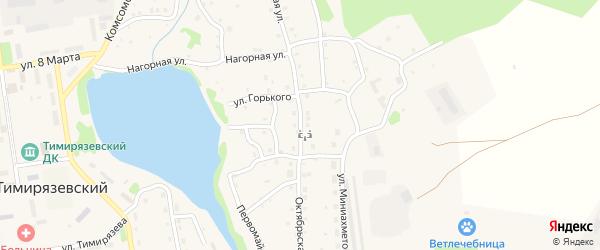 Октябрьская улица на карте Тимирязевского поселка Челябинской области с номерами домов