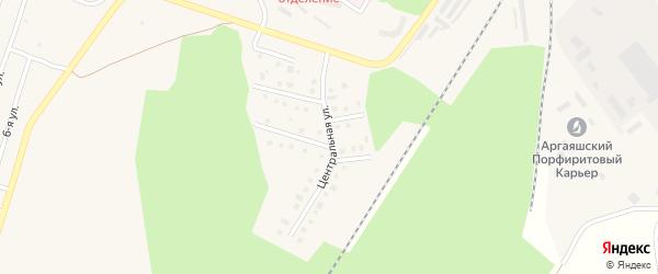 Центральная улица на карте Новогорного поселка с номерами домов