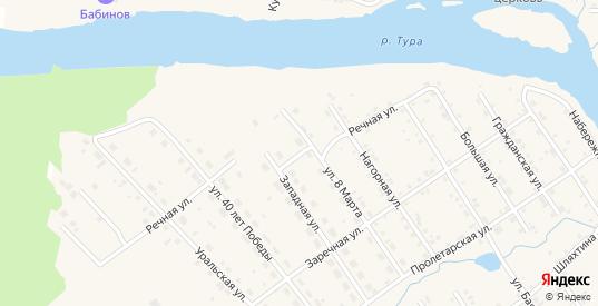 Речная улица в Верхотурье с номерами домов на карте. Спутник и схема онлайн