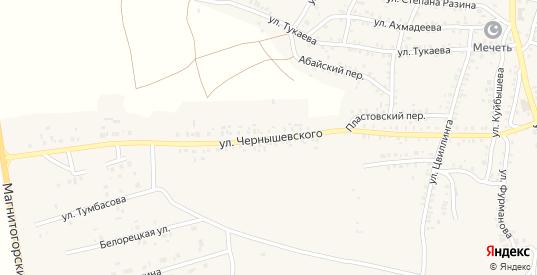 Улица Чернышевского в Пласте с номерами домов на карте. Спутник и схема онлайн