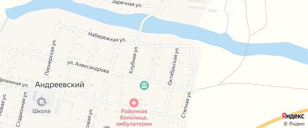 Школьная улица на карте Андреевского поселка с номерами домов