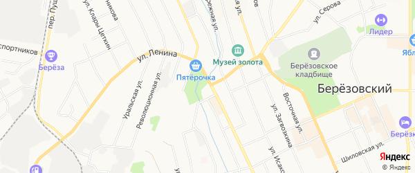 Территория Гаражный участок N9а на карте Березовского с номерами домов