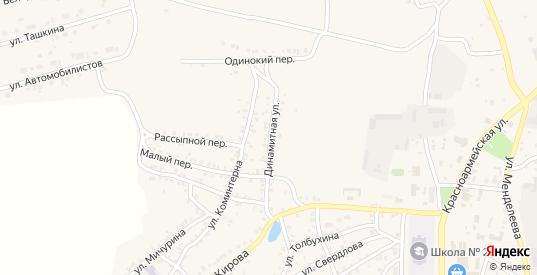 Динамитная улица в Пласте с номерами домов на карте. Спутник и схема онлайн