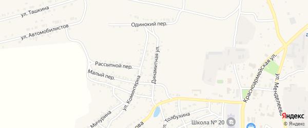 Динамитная улица на карте Пласта с номерами домов