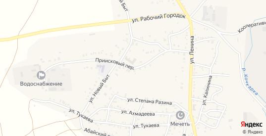 Приисковый переулок в Пласте с номерами домов на карте. Спутник и схема онлайн