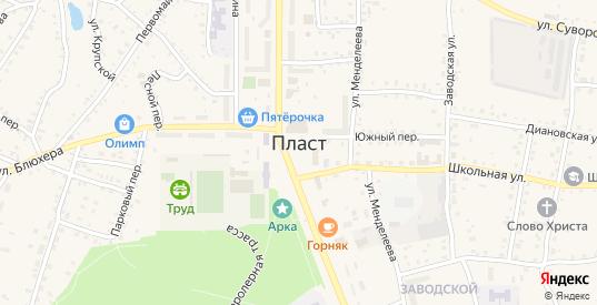 Улица Тухачевского в Пласте с номерами домов на карте. Спутник и схема онлайн