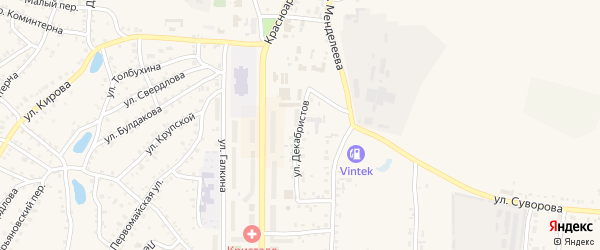 Улица Декабристов на карте Пласта с номерами домов