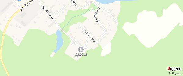 Улица Волкова на карте Верхотурья с номерами домов