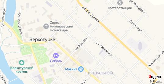 Улица Ершова в Верхотурье с номерами домов на карте. Спутник и схема онлайн