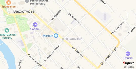 Комсомольская улица в Верхотурье с номерами домов на карте. Спутник и схема онлайн