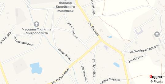 Улица Коммуны в Пласте с номерами домов на карте. Спутник и схема онлайн