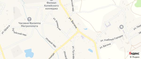 Горный переулок на карте Пласта с номерами домов