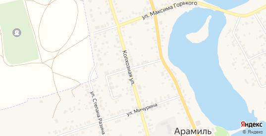 Исетский переулок в Арамиле с номерами домов на карте. Спутник и схема онлайн