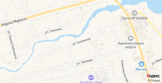 Улица Калинина в Арамиле с номерами домов на карте. Спутник и схема онлайн