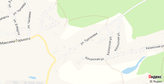 Улица Тургенева в Пласте с номерами домов на карте. Спутник и схема онлайн