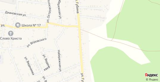 Улица Губина в Пласте с номерами домов на карте. Спутник и схема онлайн