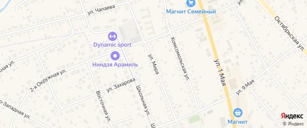 Улица Мира на карте Арамиля с номерами домов