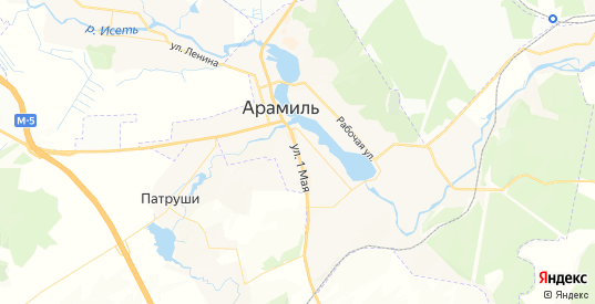 Карта Арамиля с улицами и домами подробная. Показать со спутника номера домов онлайн