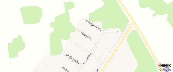 Малая улица на карте деревни Акбашева Челябинской области с номерами домов