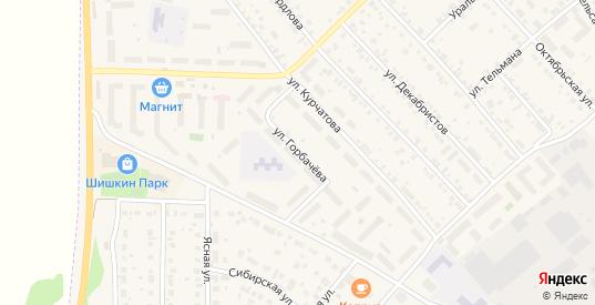 Улица Горбачева в Арамиле с номерами домов на карте. Спутник и схема онлайн