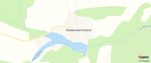 Карта поселка Каменные Ключи города Верхней Пышмы в Свердловской области с улицами и номерами домов