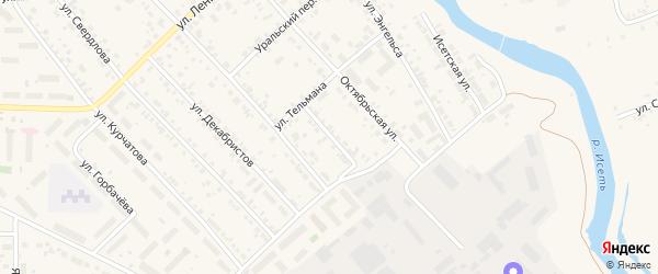 Улица Белинского на карте Арамиля с номерами домов