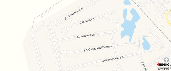 Колхозная улица на карте села Аргаяша с номерами домов