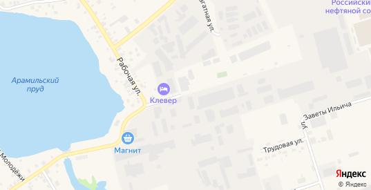 Клубная улица в Арамиле с номерами домов на карте. Спутник и схема онлайн